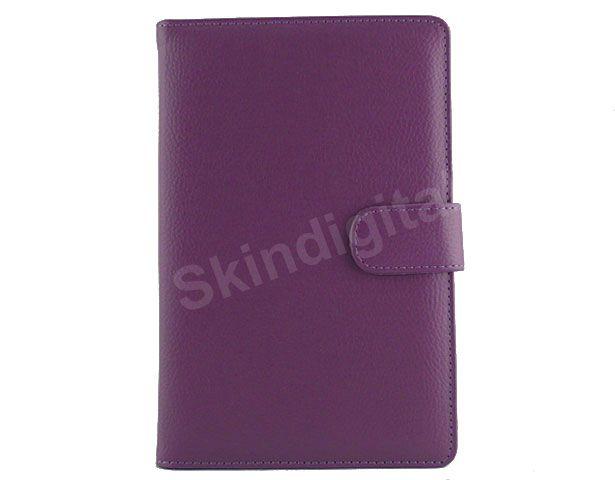 For Nook Tablet / Nook Color Purple Leather Case Cover Jacket