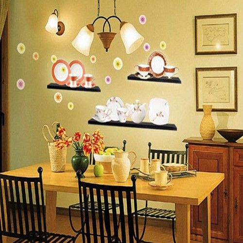 Kitchen Cupboard Adhesive Removable Wall Home Decor Accents Sticker