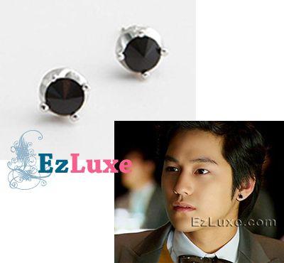 Korean drama boys over flowers Kim Bum Onyx Earrings