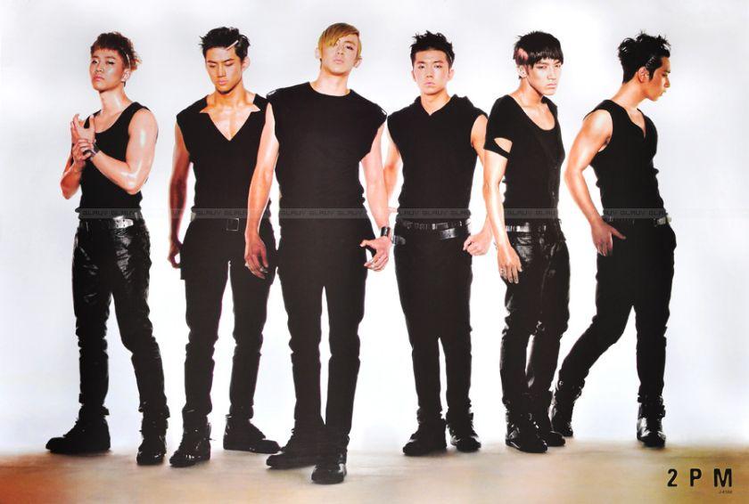 2PM Boy Band Singer Korean Poster 90x60 cm Black Suit