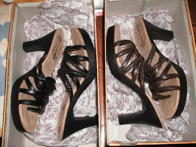 NEW WOMENS SHOES SANDALS MUDD RISQUE HEELS BLACK BROWN